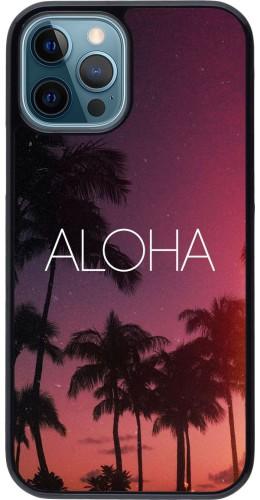 Coque iPhone 12 / 12 Pro - Aloha Sunset Palms
