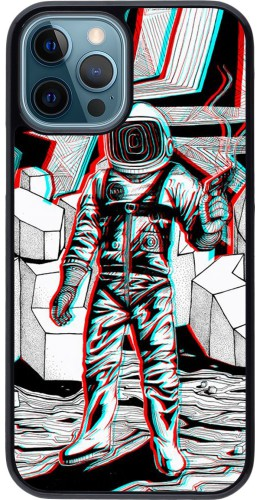 Coque iPhone 12 / 12 Pro - Anaglyph Astronaut