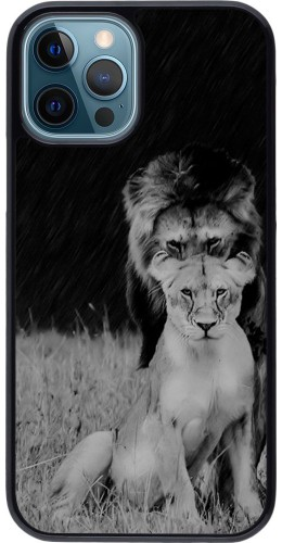 Coque iPhone 12 / 12 Pro - Angry lions