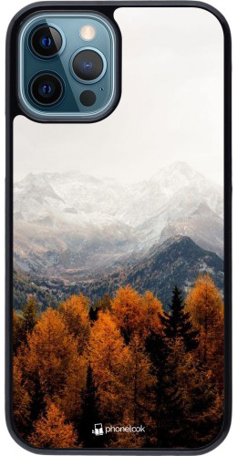 Coque iPhone 12 / 12 Pro - Autumn 21 Forest Mountain