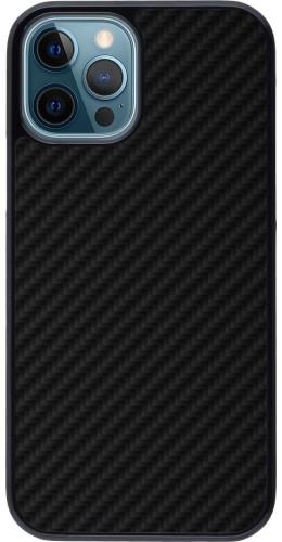 Coque iPhone 12 / 12 Pro - Carbon Basic