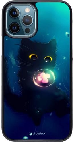 Coque iPhone 12 / 12 Pro - Cute Cat Bubble