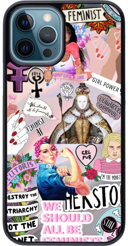 Coque iPhone 12 / 12 Pro - Girl Power Collage