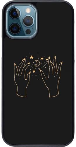Coque iPhone 12 / 12 Pro - Grey magic hands