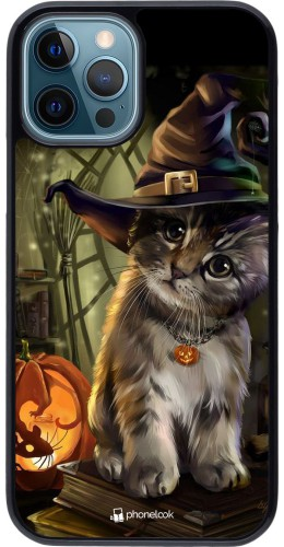 Coque iPhone 12 / 12 Pro - Halloween 21 Witch cat