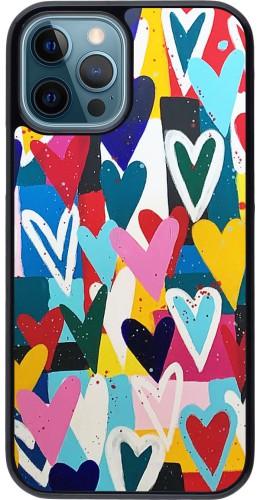 Coque iPhone 12 / 12 Pro - Joyful Hearts