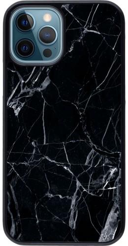 Coque iPhone 12 / 12 Pro - Marble Black 01