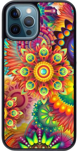 Coque iPhone 12 / 12 Pro - Multicolor aztec