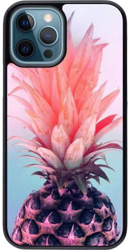 Coque iPhone 12 / 12 Pro - Purple Pink Pineapple