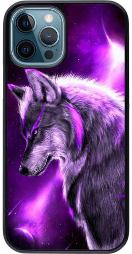 Coque iPhone 12 / 12 Pro - Purple Sky Wolf