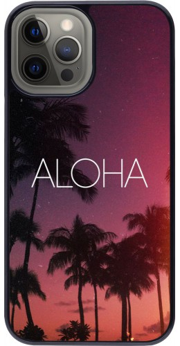 Coque iPhone 12 Pro Max - Aloha Sunset Palms