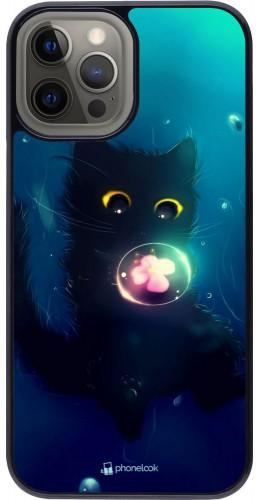 Coque iPhone 12 Pro Max - Cute Cat Bubble