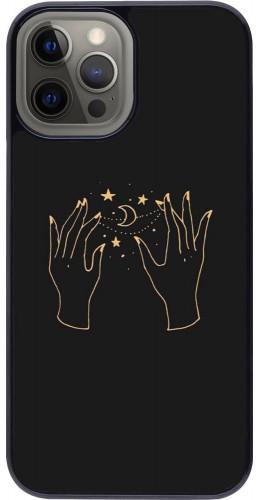 Coque iPhone 12 Pro Max - Grey magic hands