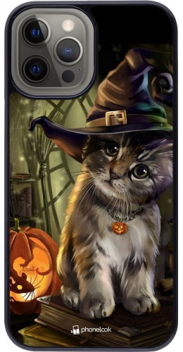 Coque iPhone 12 Pro Max - Halloween 21 Witch cat