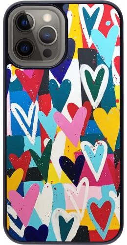 Coque iPhone 12 Pro Max - Joyful Hearts