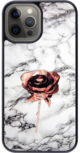 Coque iPhone 12 Pro Max - Marble Rose Gold
