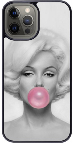 Coque iPhone 12 Pro Max - Marilyn Bubble