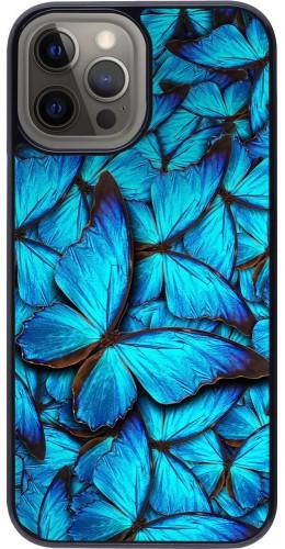 Coque iPhone 12 Pro Max - Papillon bleu