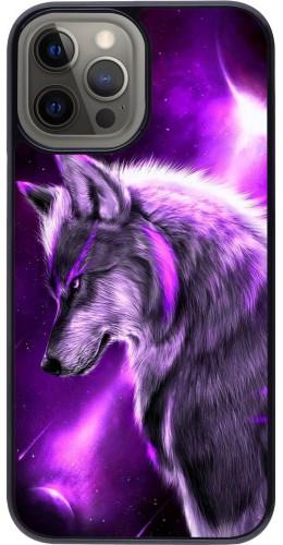 Coque iPhone 12 Pro Max - Purple Sky Wolf