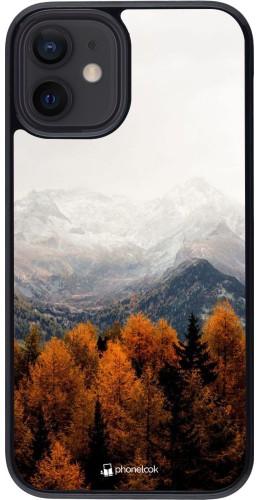 Coque iPhone 12 mini - Autumn 21 Forest Mountain