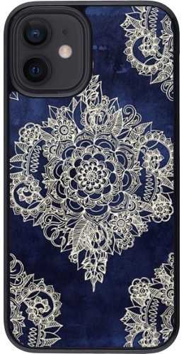 Coque iPhone 12 mini - Cream Flower Moroccan