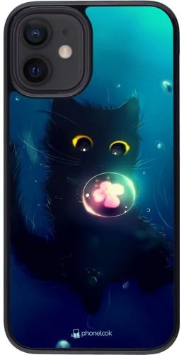 Coque iPhone 12 mini - Cute Cat Bubble