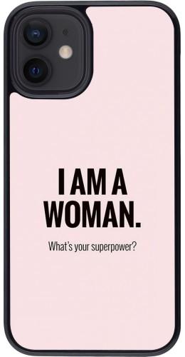 Coque iPhone 12 mini - I am a woman