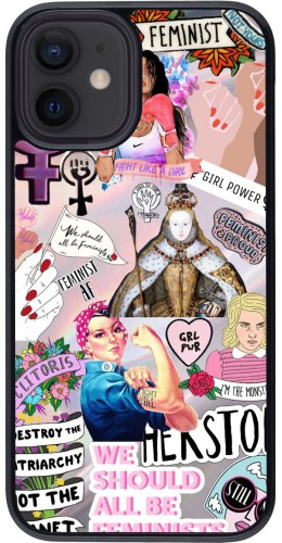 Coque iPhone 12 mini - Girl Power Collage