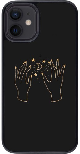Coque iPhone 12 mini - Grey magic hands