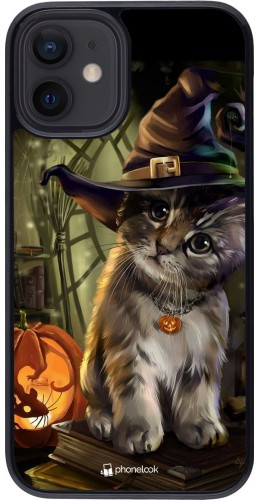 Coque iPhone 12 mini - Halloween 21 Witch cat