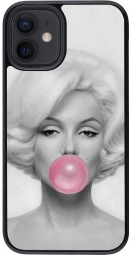 Coque iPhone 12 mini - Marilyn Bubble