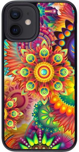 Coque iPhone 12 mini - Multicolor aztec