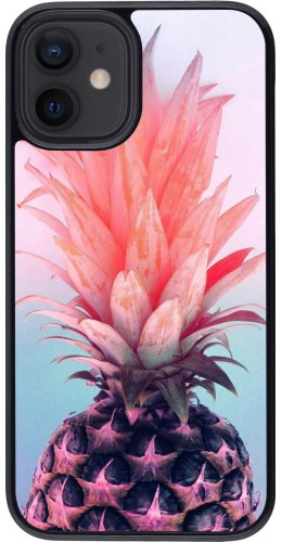 Coque iPhone 12 mini - Purple Pink Pineapple