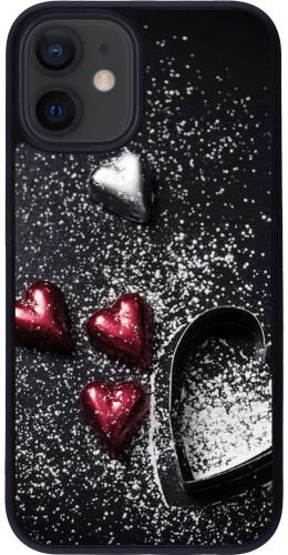 Coque iPhone 12 mini - Silicone rigide noir Valentine 20 09