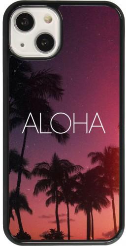 Coque iPhone 13 - Aloha Sunset Palms