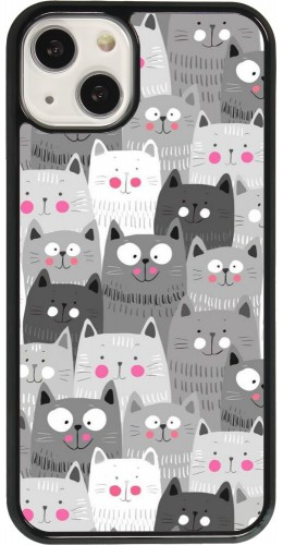 Coque iPhone 13 - Chats gris troupeau