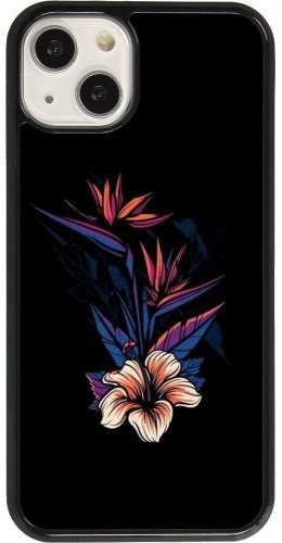 Coque iPhone 13 - Dark Flowers