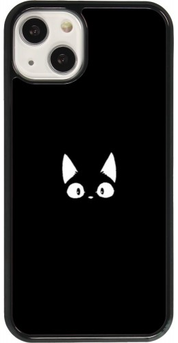 Coque iPhone 13 - Funny cat on black