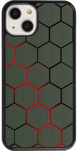 Coque iPhone 13 - Geometric Line red