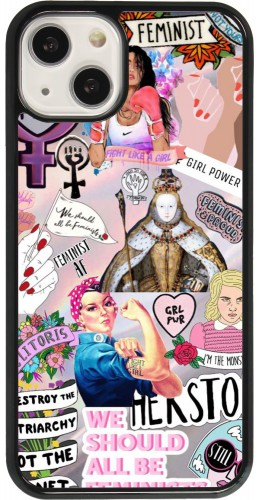 Coque iPhone 13 - Girl Power Collage