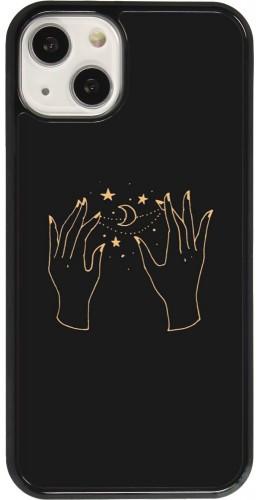 Coque iPhone 13 - Grey magic hands