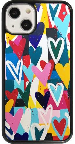 Coque iPhone 13 - Joyful Hearts