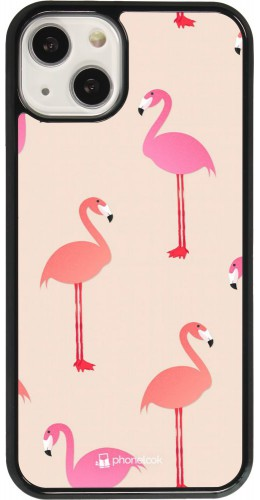 Coque iPhone 13 - Pink Flamingos Pattern