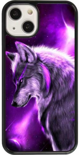 Coque iPhone 13 - Purple Sky Wolf