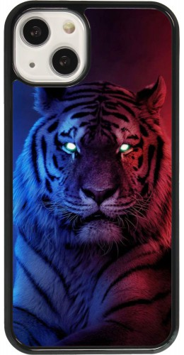 Coque iPhone 13 - Tiger Blue Red