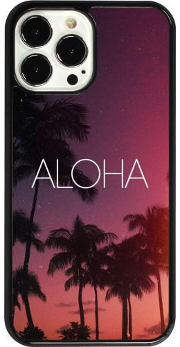 Coque iPhone 13 Pro Max - Aloha Sunset Palms
