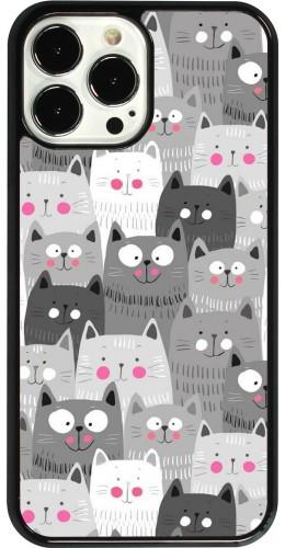 Coque iPhone 13 Pro Max - Chats gris troupeau