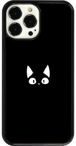 Coque iPhone 13 Pro Max - Funny cat on black
