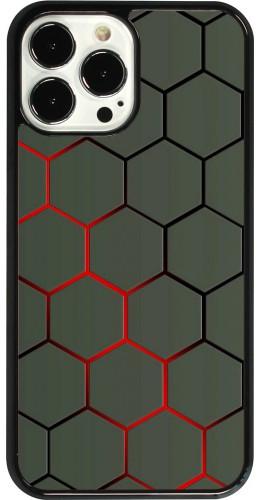 Coque iPhone 13 Pro Max - Geometric Line red