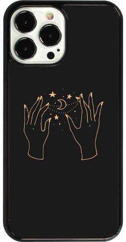 Coque iPhone 13 Pro Max - Grey magic hands
